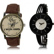 The Shopoholic Brown Black Silver Combo Latest Collection Fancy And Attractive Brown And Black And Silver Dial Analog Watch For Boys And Girls Mens Leather Watches
