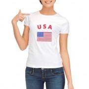 Shoppartners USA vlag t-shirt voor dames