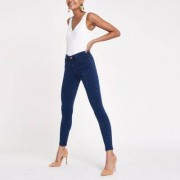 River Island Womens Dark Blue Molly skinny fit jeggings - Size 34 shor