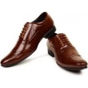BUWCH Men'S Formal Brown Shoe | party wear shoes | | formal shoes for men leather shoes brown formal shoes mens formal shoes office shoes formal shoes formal shoes for men leather Lace Up For Men(Brown)