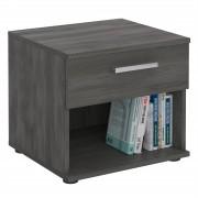 CARO-Möbel Nachttisch MARY esche grau mit Schublade