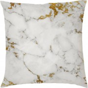 Marble Print Cushion - Gold Marbles - Gold Marble 5