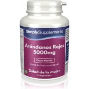 Simply Supplements Arándanos Rojos 5000mg - 120 Comprimidos