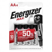 Energizer 4 Piles Alcalines AA / LR6 Energizer Max