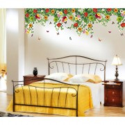 Vinyl Backdrop Hanging Realistic Daisy Flowers Falling From Ceiling Border Wall Sticker (20X28 Inch)