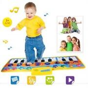 Lisingtool Kids Musical Toy Touch Play Keyboard Music Singing Gym Carpet Mat