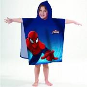 Marvel poncho handdoek met Spiderman print 60 x120 cm