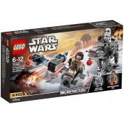 Set de constructie LEGO Star Wars Ski Speeder contra Walker al Ordinului Intai Microfighters