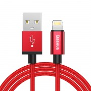 BASEUS MFI Lightning 8pin USB Charge Data Sync Cable Simple Version of AntiLa Series for iPhone iPad iPod - Red