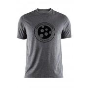 CRAFT Melange Graphic funkcionális férfi póló sötétszürke