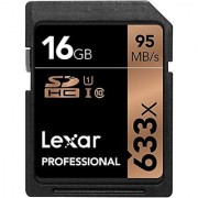 Lexar Professional 633x 16GB SDHC UHS-I/U1 Card with Image Rescue 5 Software - LSD16GCB1NL633