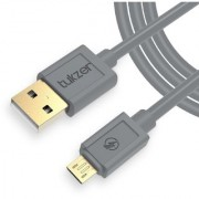 Tukzer Gold Plated Micro-USB to USB Cable (6.5 Feet/ 2 Meter) - High Speed Quick Charge 2.4 Amp Data Sync (Gray)