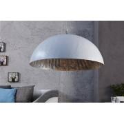 Bighome.cz Bighome - Visící lampa NEMESIS 50 cm – bílá/stříbrná