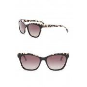 Ted Baker London 57mm Cat Eye Sunglasses BLACKIVORYTORTOISE