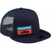 Troy Lee Designs Team KTM Stock Cap Blu unica taglia