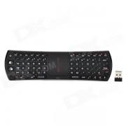 RII mini 2.4ghz inalambrico aire raton 78 teclas teclado combinado w / touch pad - negro