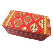 Nain Trading Alfombra Oriental Kilim Hocker Zweier 100x50 Alfombras Naranja (Lana, Persia/Irán, Anudado a mano)