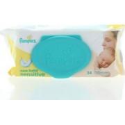 Pachet 15 bucati Pampers Servetele umede 54 buc New baby Sensitive cu capac