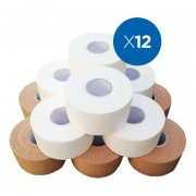 Pack x12 Venda Rígida Funcional de Rayón - Tape Alta Calidad 5 cm x 13,7 mt
