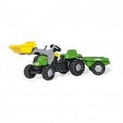 Rolly Kid-X pedálos markolós traktor utánfutóval II
