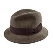 Klassischer Trilby-Hut, 56-57 cm Kopfumfang - Braun-meliert