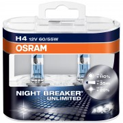 Becuri auto cu halogen pentru far Osram Night Breaker Unlimited H4 12V 60/55W P43t-38 Kft Auto