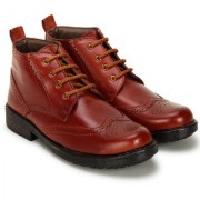 Crown Sapphire High Ankle Oxford Formal Boots For Men (Tan 6 UK)
