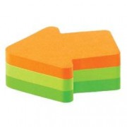 Post-it Sticky Notes 70 x 70 mm Neon Orange, Yellow, Green 225 Sheets