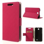 Кожен калъф магнитна закопчалка за HTC Desire 310 - розов