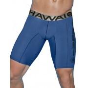 Hawai Logo Long Boxer Brief Underwear Blue 497