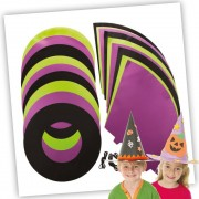 Coloured Witch & Wizard Hats Bulk Pack (Pack of 30)