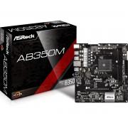 Matična ploča MB AM4 ASROCK AB350M, PCIe/DDR4/SATA3/USB3.1