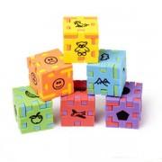 Happy cube Junior, 6 puzzle-uri ambalate individual, 3 - 7 ani