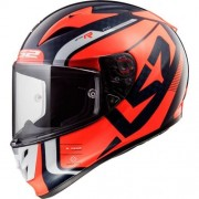 LS2 FF323 ARROW C EVO STING Blue Fluo Orange