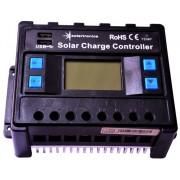 Napelem töltővezérlő 50 amper / 12V / 24V kék
