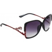 Zyaden Over-sized Sunglasses(Black)