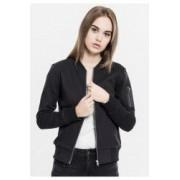Geaca sweat bomber jacket dama - Urban Classics - NEGRU