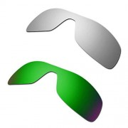 Hkuco Mens Replacement Lenses For Oakley Antix Titanium/Emerald Green Sunglasses