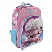 Ghiozdan Frozen 3D Trolley Backpack Glossy Elsa