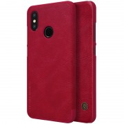 NILLKIN Qin Series Card Holder Leather Mobile Phone Case for Xiaomi Mi 8 (6.21-inch) - Red
