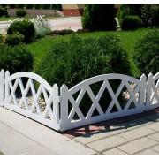 Gard pentru gradina-2,3m-alb