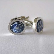 Distino Of Melbourne Formal Blue Swirl Cufflinks C22
