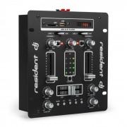 DJ-25 Mixer per DJ Amplificatore Bluetooth USB nero/bianco