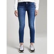TOM TAILOR Carrie Slim Jeans, Used Mid Stone Blue Denim, 34