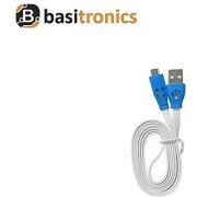 Basitronics Flat Smile Micro USB Charging and Data cable 3 Feet 0.9 Meters White