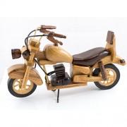 Motocicleta clasica, macheta din lemn