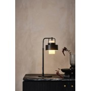GLASON bordslampa Matt svart/klarglas