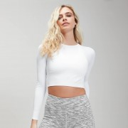 Myprotein MP Women's Shape Seamless Ultra Long Sleeve Crop Top - White - XXS