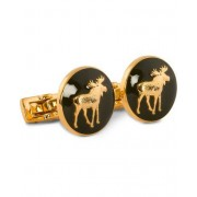 Skultuna Cuff Links Hunter The Moose Gold/Green