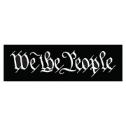 Squadron Products We The People' Black Hat Patch Clothing